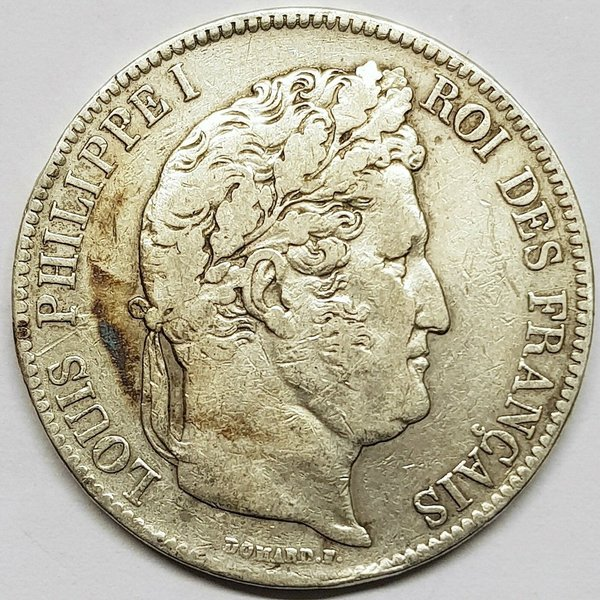 Ecu de 5 Francs Louis Philippe 1832 W