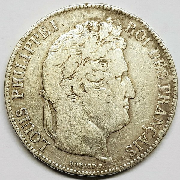 Ecu de 5 Francs Louis Philippe 1842 B