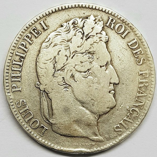 Ecu de 5 Francs Louis Philippe 1842 w
