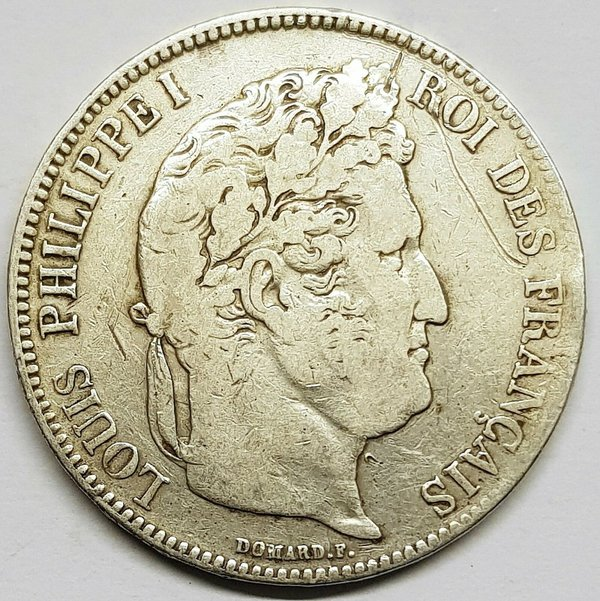 Ecu de 5 Francs Louis Philippe 1837 B